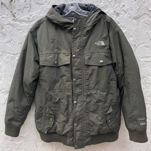 THE NORTH FACE 550 Green Puffer Hoodie Jacket S